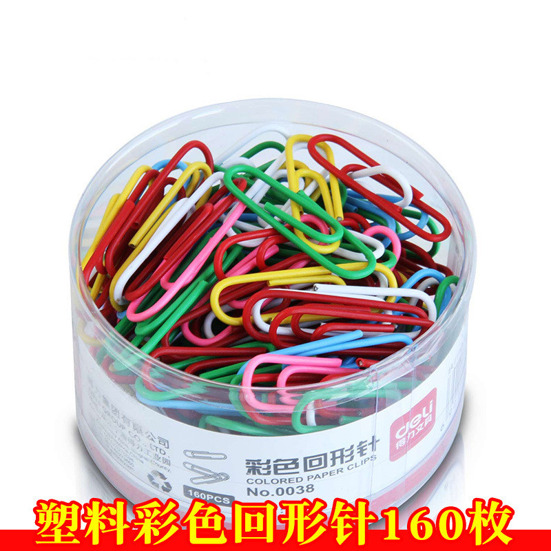 2.9cm30pcs Color Metal Paper Clip Binding Clip Paper Clip Office Supplies Stationary Office Stationery Clip For Bookmarking Page