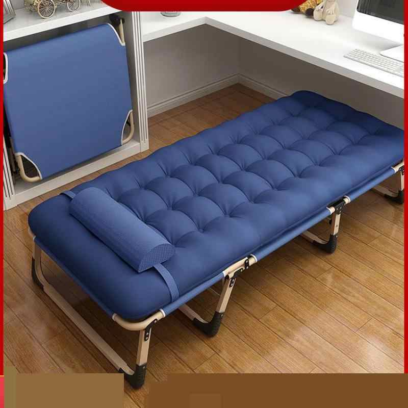 Folding bed single bed office simple lunch bed multi-function portable camp bed home nap lounge chair