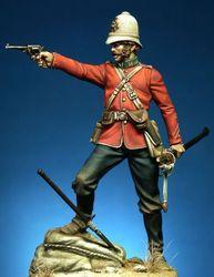 1/24 escala figura de resina sem pintura oficial britânico na guerra anglo-zulu