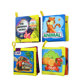 4 Pcs Early Educational Toy Cloth Book for Babies My First Fabric Book Soft Touch Non-Toxic Washable Activity Cloth Books Perfec oxford first atlas activity book