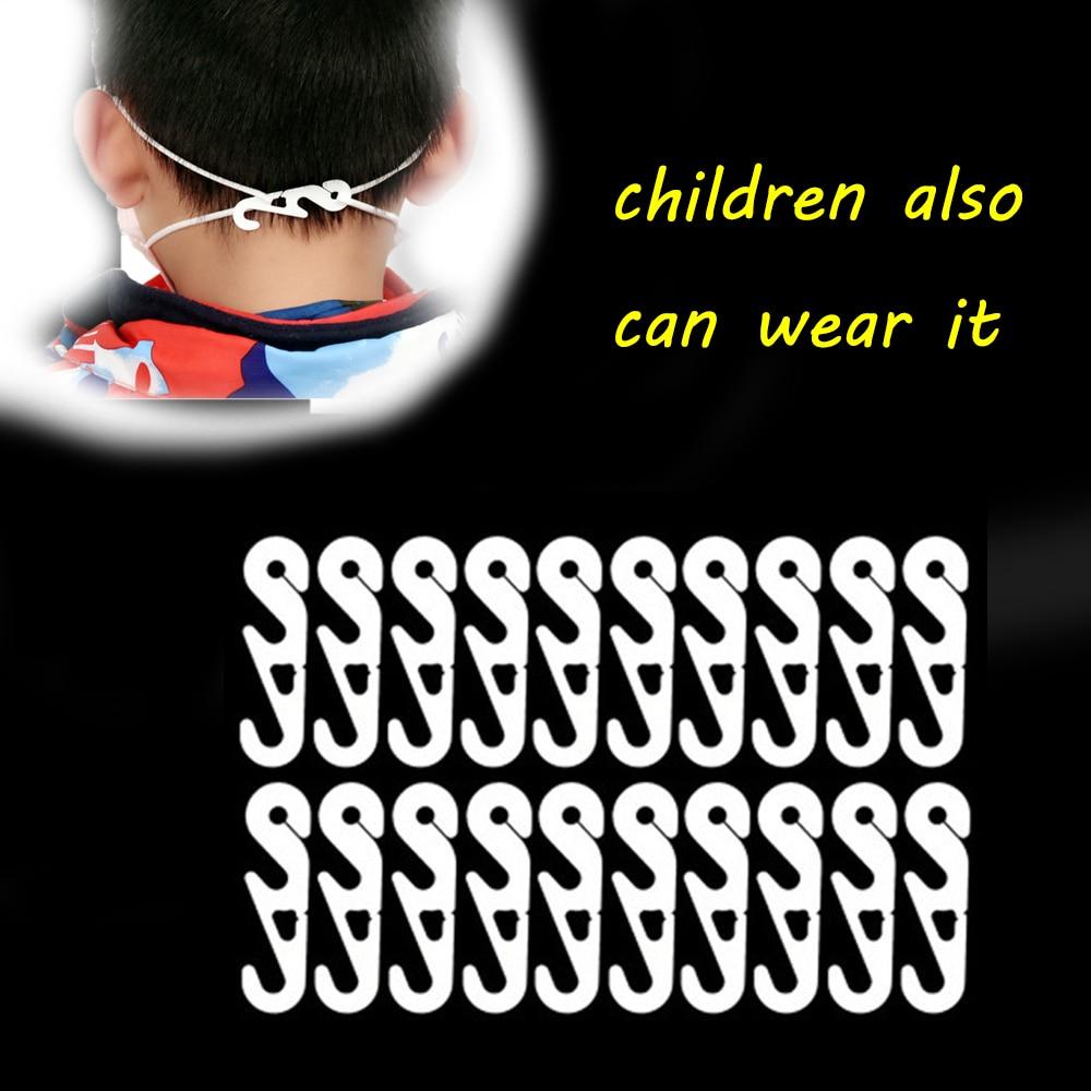 10pcs Adjustable Anti-Slip Mask Ear Grips Extension Hook Plastic Face Masks Buckle Mask Adjust Masks Hook Mask Accessories
