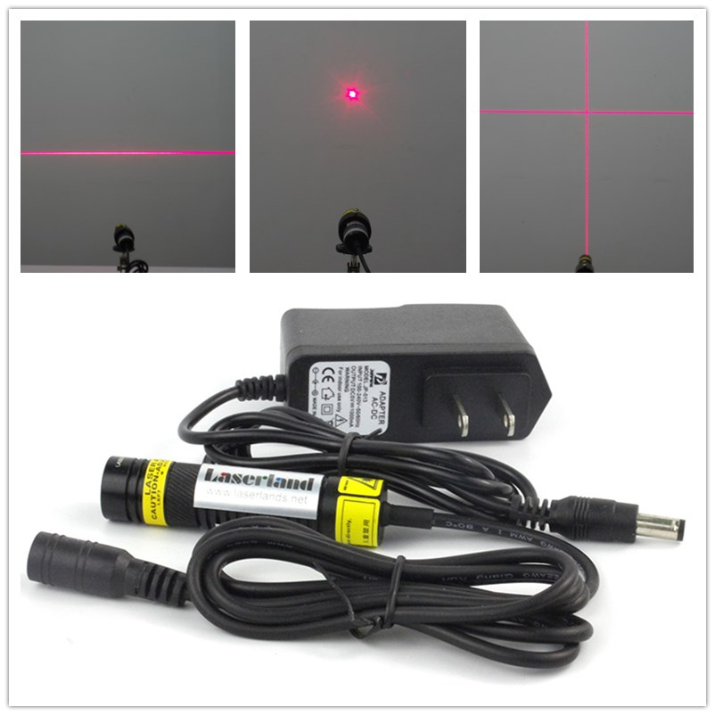 16*68mm 638nm Orange Red Laser Module Cross Hair Line With Sharp Laser Diode In