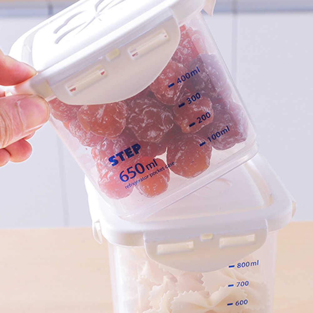 240 ml/650 ml/1000 ml/1800 ml kuchnia suszone orzechy przyprawy przekąski żywności ziarna schowek dobre uszczelnienie Graduation Jar słoik z uszczelką może