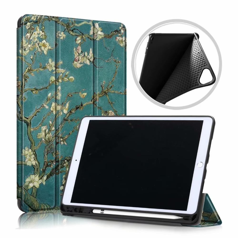Green Tree Gray Ultra Slim Coque For iPad 10 2 2019 Case A2200 A2198 A2232 Smart Magnetic Folding Stand