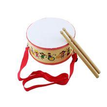 Детский игрушечный бубен деревянный барабан для раннего образования музыкальный инструмент