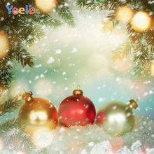 Yeele Christmas Photocall Bokeh Lights Balls Party Photography Backdrops Personalized Photographic Background For Photo Studio