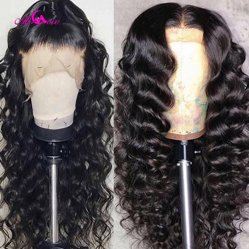 Image 4 - Brazilian Deep Wave Lace Front Human Hair Wigs Front Lace Wigs With Baby Hair Pre Plucked Natural Hairline 150% Remy Ali coco-in Human Hair Lace Wigs from Hair Extensions & Wigs