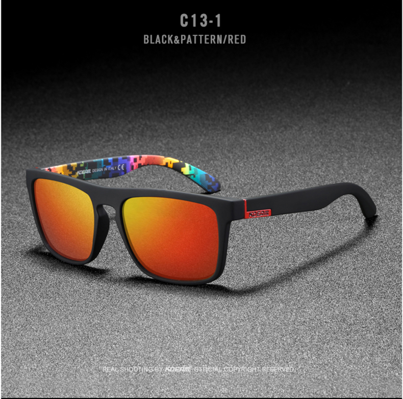 H50cb4e4734e5437f8db7be2cc173e786l - New KDEAM Mirror Polarized Sunglasses Men Ultralight Glasses Frame Square Sport Sun Glasses Male UV400 Travel Goggles CE X8