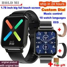 2020 Smart Horloge IP68 Waterdichte Mannen Smart Horloge Bluetooth Android Polsband Oproep Herinnering Hartslag Stappenteller Dtx Smartwatch