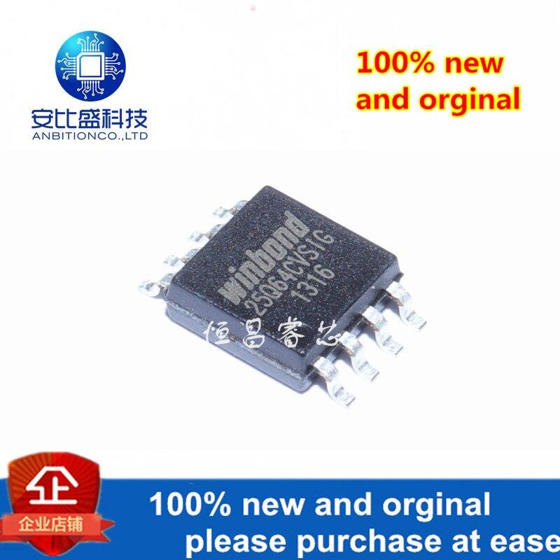 5pcs 100% New And Orginal W25Q64CVSSIG Silk-screen 25Q64CVSIG 64Mbit SOP8 In Stock