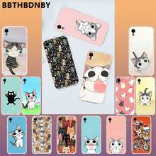 Cartoon Kat Luxe Unieke Ontwerp Telefoon Cover Voor Iphone 11 Pro Xs Max 8 7 6 6S Plus X 5 5S Se Xr Cover(China)