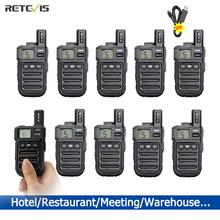 10pcs Retevis RB615/RB15 MINI PMR Walkie Talkie PMR446 PMR 446 วิทยุ VOX แฮนด์ฟรีวิทยุสองการสั่นสะเทือน Wireless Cloning