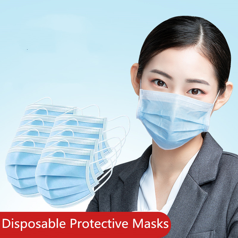 KN95 Medical Protective Masks Face Anti virus Prevent Bacteria  Mask 3 Layers Safe Surgery Masks Disposable Dustproof Mouth Cover  -