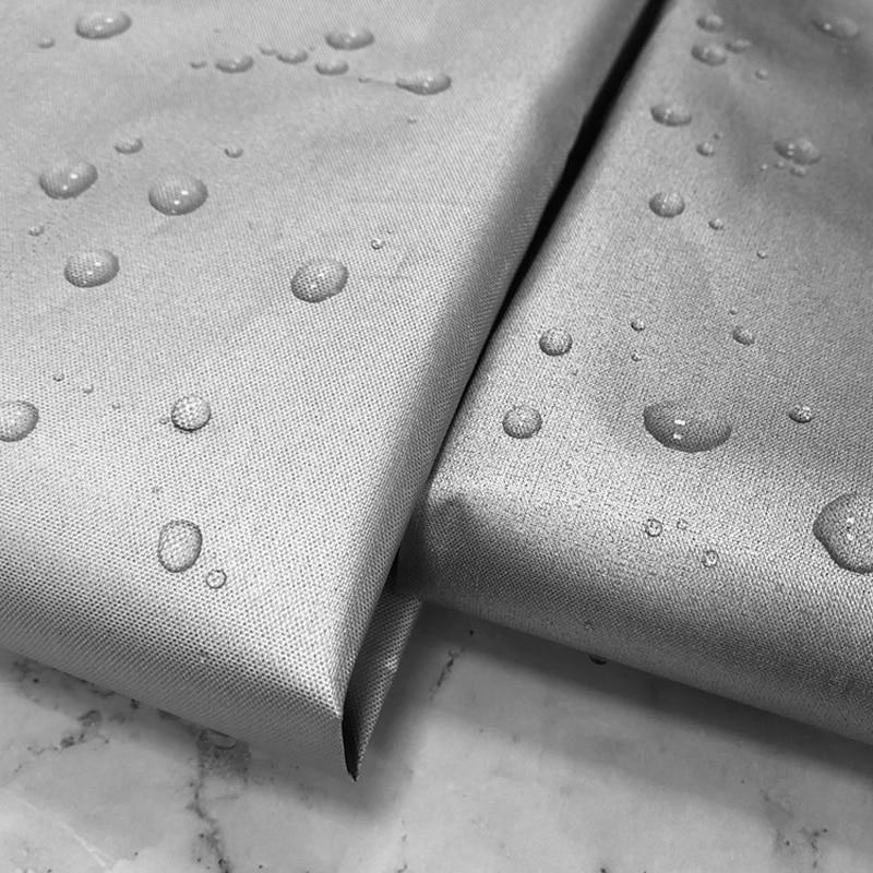100cm * 170cm de largura 210d double-sided prata sombra completa à prova dwaterproof água protetor solar oxford pano cortina pano tenda roupa do carro tecido