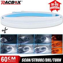 Running-Light Headlight Car-Accessories Flexible Turn-Signal-Strip Scan Strobe for 2pcs