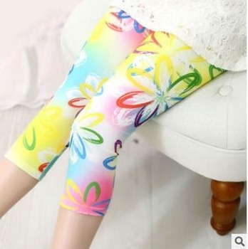 Girls Flower Printed Trousers