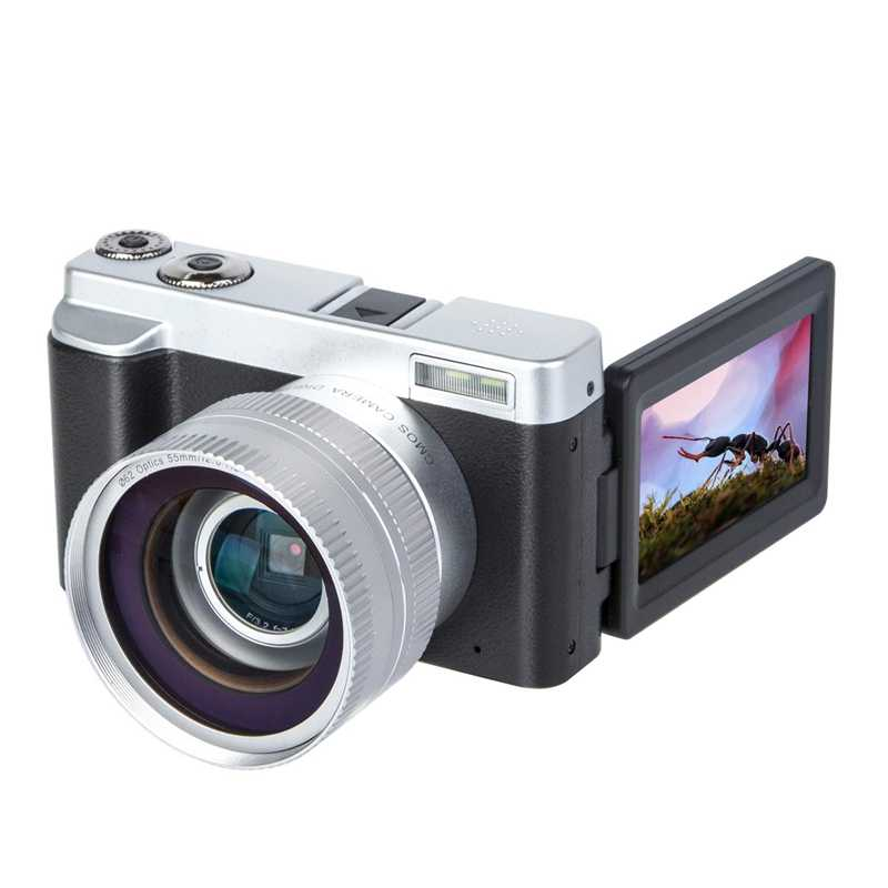 Kamera Digital Kamera Video Vlogging YouTube Perekam HD1080P 30FPS 24.0MP 3.0 Inci Flip Layar 16X Digital Zoom WIFI Kamera Kecerdasan