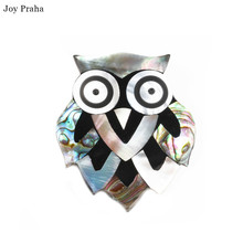 Hot selling abalone shell women brooch / Simple animal owl