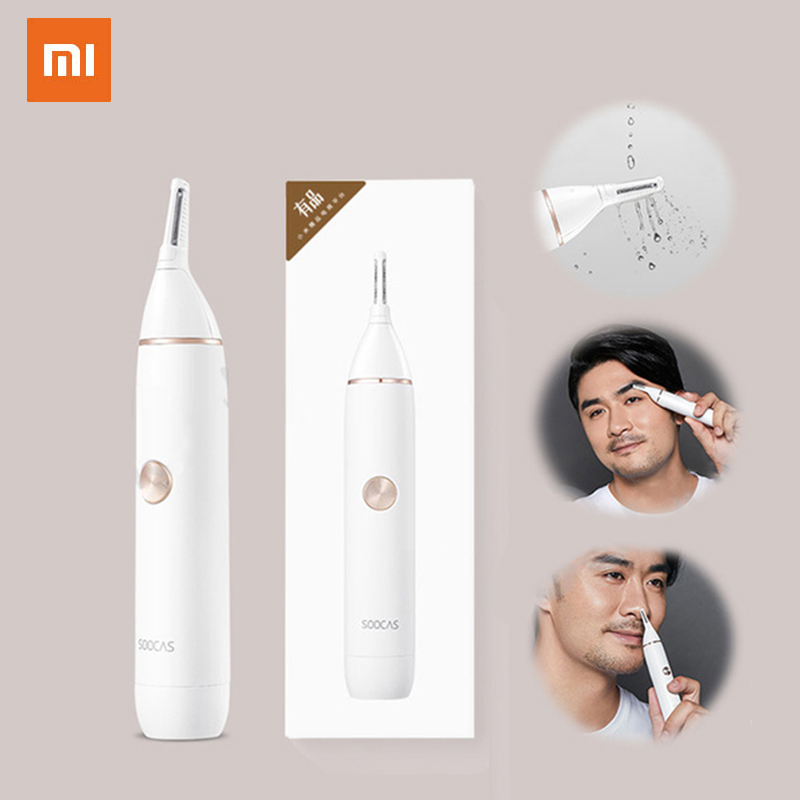 Xiaomi Soocas IPX5 Waterproof Nose Eyebrow Hair Trimmer Sharp Blade Body Wash Minimalist Design Safe Cleaner Trim Personal Daily