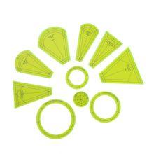Patchwork righello di dresda il piatto template set per uso domestico parti della macchina per cucire 1set = 7pcs # DPT 7