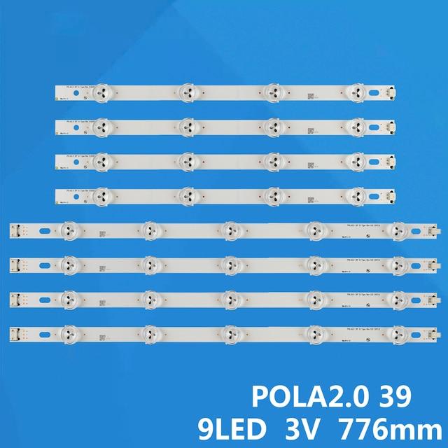 """LED תאורה אחורית רצועת 9 מנורת עבור LG 39 """"טלוויזיה 39LN5100 INN0TEK POLA2.0 39 39LN5300 39LA620S פולה 2.0 39LN5400 HC390DUN VCFP1 39LN540B"""