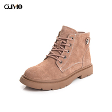 Genuine Leather women boots shoes Work Ankle for 2019 Winter Boots Suede Snow size 34-40