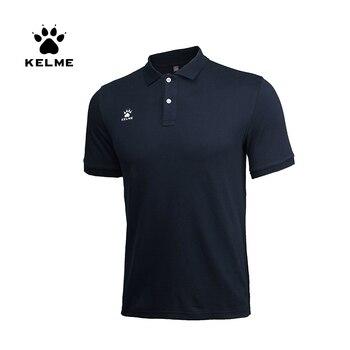 KELME Men's Training Polo T-Shirt  Summer Running Cotton Shirts Casual Short Sleeve Tops High Quantity Polo For Men  K15F117
