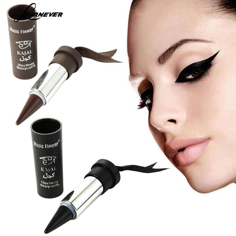 3 Colors Solid Thick Eyeliner Cream Women Smoky Eyes Thick KAJAL Bold Liner Black Eyeliner Solid Eyes J4W9