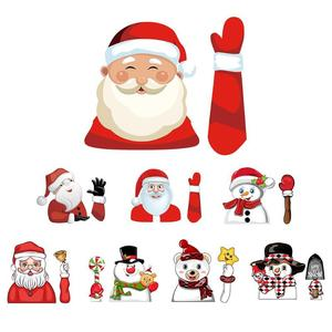 Image 1 - Christmas Car Rear Windshield Wiper Stickers Removable Waterproof Windscreen Window Decals Universal Auto Styling Decoration