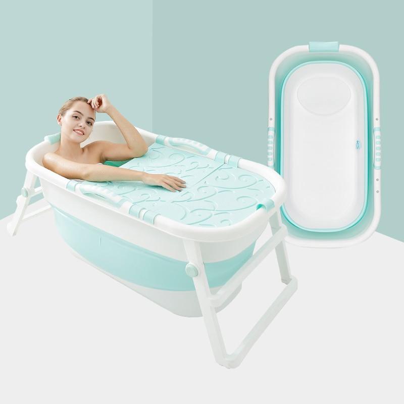 Bath Tub Adult Foldable Plastic Bathtub Thickened Bath Bucket Folding Bathtub Baby Swimming Bath Insulation Ergonomic Design