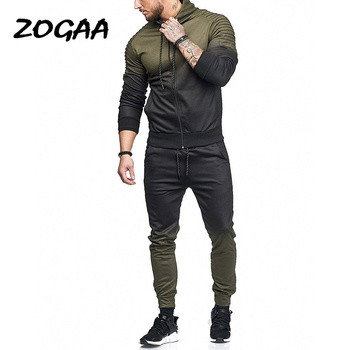 ZOGAA New Casual Mens Tracksuit for Men 2 Piece Set Tops and Pants Fitness Sweat Suits Men Fashion Clothing Outfits Men Joggers zogaa new casual men tracksuit men hoodies sweatshirts with pants set brand new 2 piece set sweat suit mens joggers sets