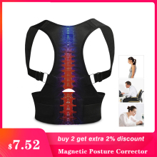 Magnetic Back Posture Corrector Shoulder lumbar Adjustable Support Correction for Humpback Spine Female Male Bone Care plus size