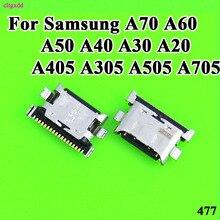 10pcs/lot Charger Micro USB Charging Port Dock Connector Socket For Samsung Galaxy A70 A60 A50 A40 A30 A20 A405 A305 A505 A705 стоимость