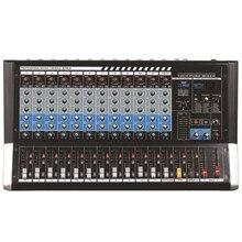 Mezclador de Audio profesional con Bluetooth, de 6 canales de DJ consola mezcladora, 8/ 12 canales, con DSP para conferencia, escenario, altavoz de matriz de línea