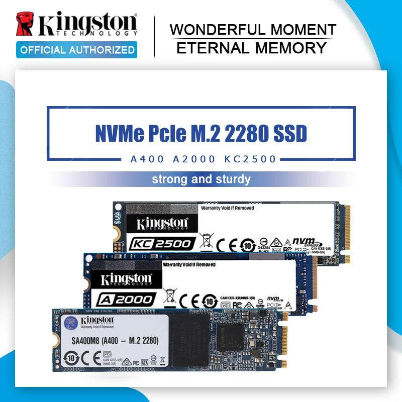 Kingston SSD NVMe PCIe M.2 2280 250G 500G 1 ТБ Внутренний твердотельный накопитель 120G 240G 480G жесткий диск для ПК ноутбука настольного компьютера M2
