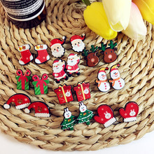 Acrylic cartoon Christmas nail women earrings lovely Christmas tree snowflake ornaments versatile simple earrings fine jewelry
