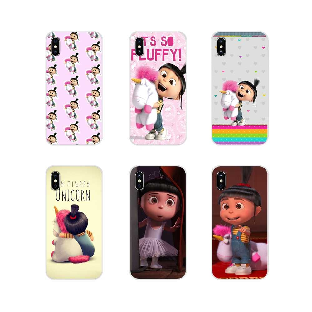 Agnes Fluffy Unicorn Despicable Me untuk Samsung A10 A30 A40 A50 A60 A70 M30 Galaxy Note 2 3 4 5 8 9 10 Plus Mobile Phone Bag Case