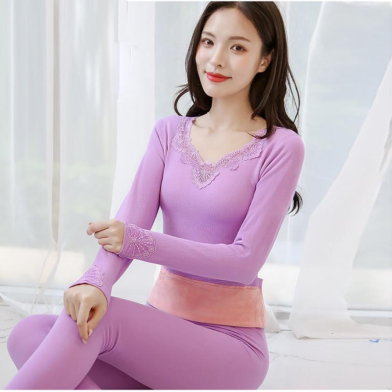 Women's Intimates Set Thermal Underwear Sets Lace Sleepwear Leggings Push Up Leggins Sport Set Women Pajamas Set Tops and Pants
