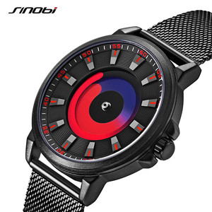 Image 2 - SINOBI New Creative Sports Quartz Wirstwatch Men Miyota Movement Watch Mens TOP Watches Fashion Rotation Clock Relogio Masculino