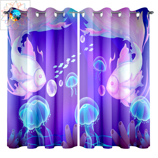 Low Cost Anime Jellyfish Window Curtains for Children\'s ...