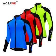 Велосипедные куртки wosawe для мужчин и женщин зимняя теплая