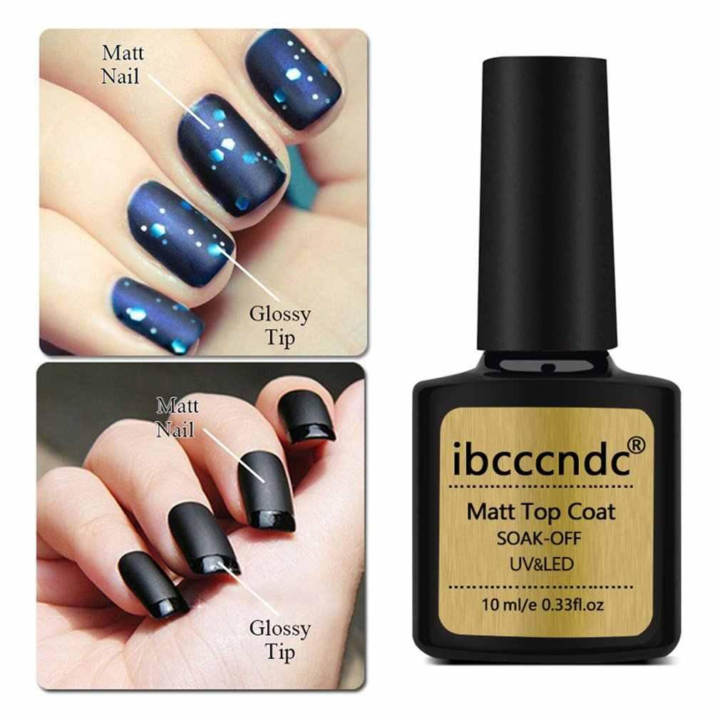 10ml DIY mate capa superior de Gel esmalte de uñas empapa de UV LED de larga duración esmalte de Gel de uñas arte laca de manicura sellador de base