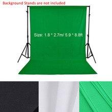 1.8*2.7 M/5.9 * 8.8ft การถ่ายภาพพื้นหลังฉากหลังสำหรับสตูดิโอถ่ายภาพหน้าจอสีเขียวพื้นหลัง