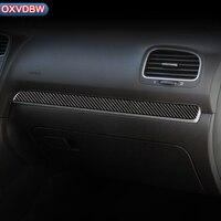 For volkswagen golf 6 mk6 R Carbon Fiber Interior Car Dashboard Decoration Strip Car Styling Sticker 2008 2012 Accessories
