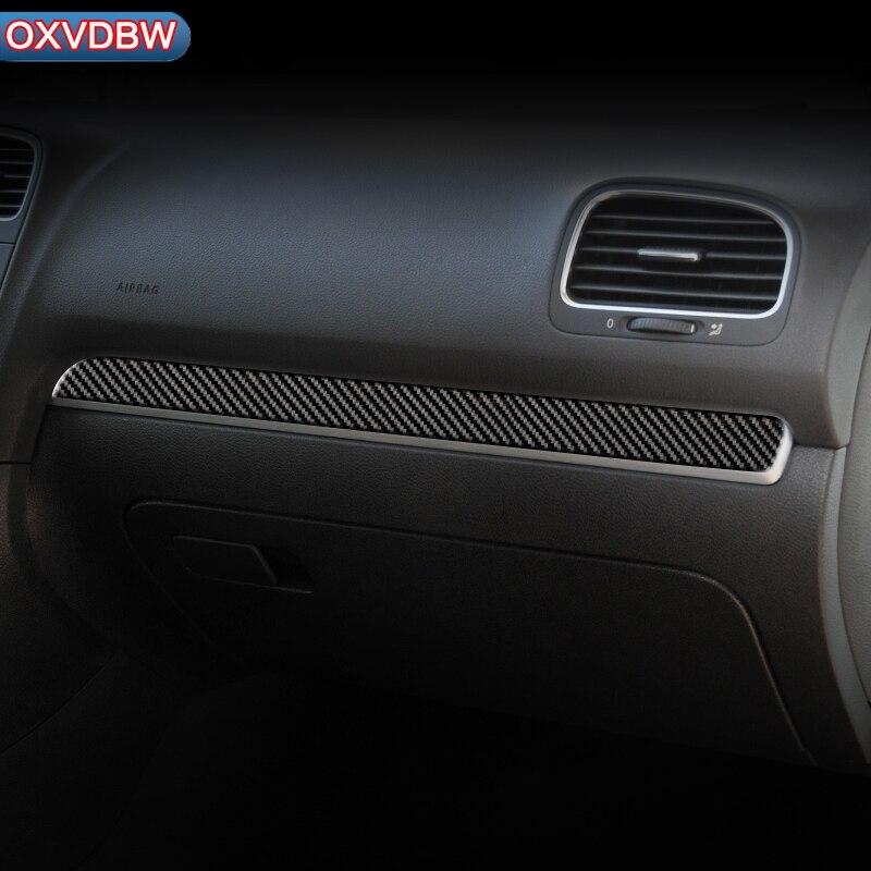 Pour volkswagen golf 6 mk6 R fibre de carbone intérieur voiture tableau de bord décoration bande voiture-style autocollant 2008-2012 accessoires