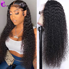 32 30 Inch Curly Human Hair Wig 13x4 Deep Curly Lace Front Wig Curly Frontal Wig Malaysian Kinky Curly Wig Pre Plucked Remy 150