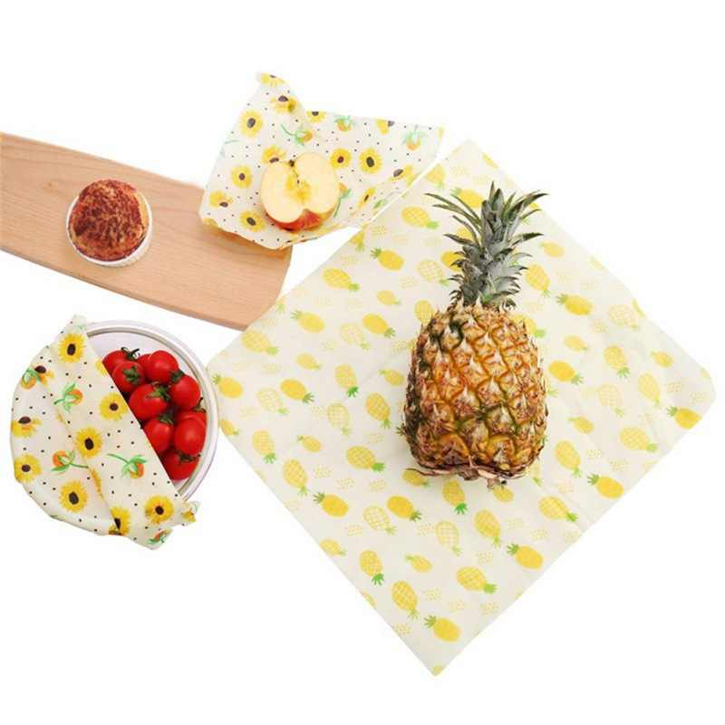 Seal Food Fresh Keeping Wrap Lid Cover Reusable Beeswax Wrap Stretch Vacuum Food Storage Wrap Beeswax Cloth Sealer For Kitchen