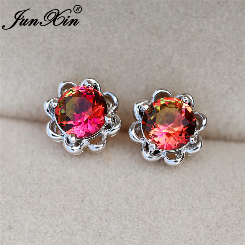 Pink Yellow Earrings