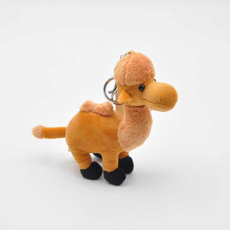 Morbido Profumato Camel Keychain della Bambola Cammello Peluche Giocattolo Farcito Cammello Animali di Peluche Bambola Piccolo Ciondolo Giocattolo Per Bambini Regalo Per Bambini Del Bambino giocattolo