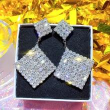 2019 New Trendy Korean Simple Earrings Arrival Zinc Alloy Classic Geometric Women Dangle For Female Jewelry
